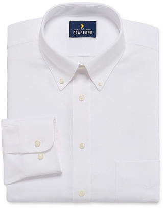 STAFFORD Stafford Travel Wrinkle-Free Stretch Oxford Long-Sleeve Dress Shirt
