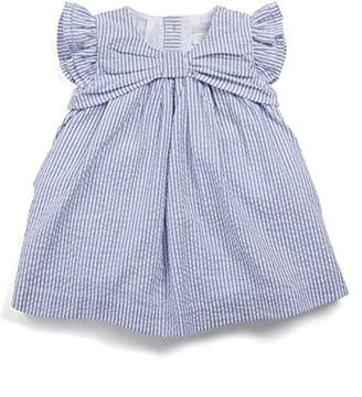 Mamas and Papas Baby Girls' Striped Seersucker Dress,0-3 Months