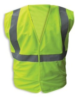 Enguard LIME Poly Fabric Reflective Safety Vests, Class 2 - L, 3-Pack