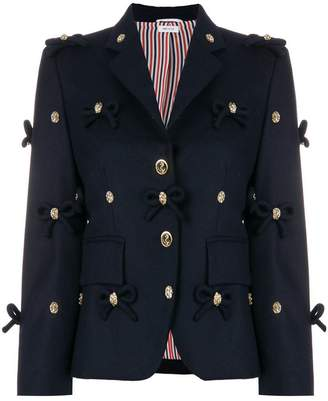 Thom Browne Bow Applique Flannel Sport Coat