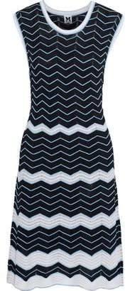M Missoni Lattice-Trimmed Cotton-Blend Jacquard Dress