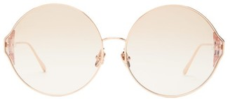 Linda Farrow Oversized Round Sunglasses - Womens - Rose Gold