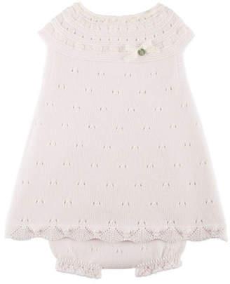 Carrera Pili Sleeveless Knit Dress w/ Bloomers, Pink, Size 3M-2Y