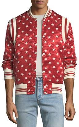 Ovadia & Sons Ball Star Satin Bomber Jacket