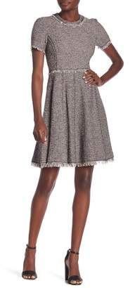 Rebecca Taylor Short Sleeve Tweed Knit Dress