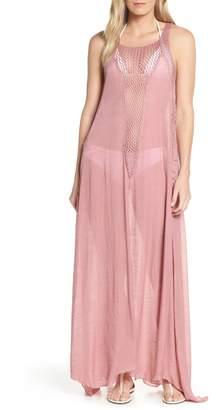 bf58f16bee4 Elan International Crochet Inset Cover-Up Maxi Dress