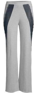 Cosabella Ferrara Lace-Accented Flare-Leg Pants