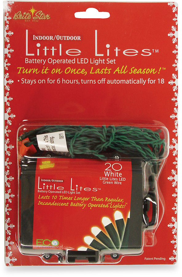 Brite Star Battery Operated 20-Count LED Micro Mini Lights in White