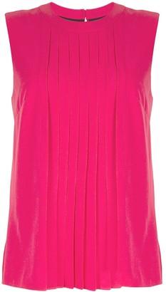 Markus Lupfer pleated sleeveless blouse