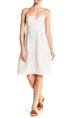 Theory Melanea B Stripe Linen Midi Dress