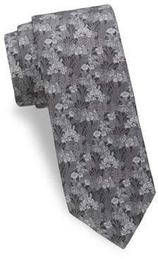 Saks Fifth Avenue Tropical Flower Silk Tie