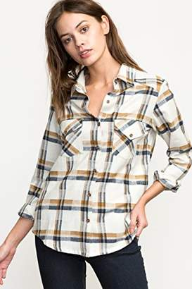 RVCA Women's Jig 5 Long Sleeve Flannel Shirt