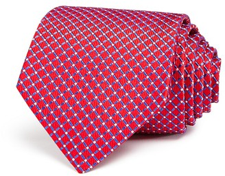 Turnbull & Asser Grid Fence Wide Tie $195 thestylecure.com