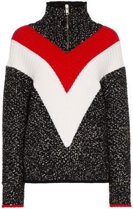 Givenchy chevron stripe zip up jumper