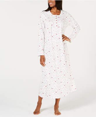 Charter Club Printed Long Cotton Nightgown
