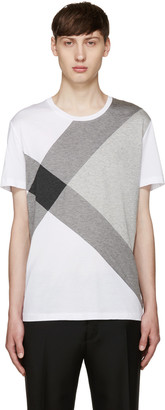 Burberry White Foster Check T-Shirt $225 thestylecure.com