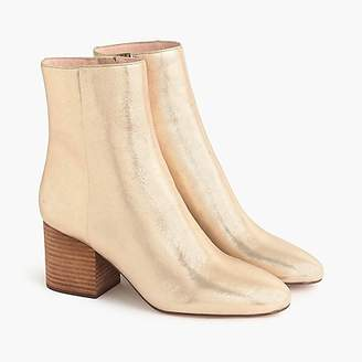 J.Crew Sadie ankle boots in metallic gold