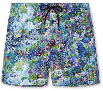 Derek Rose Maui 2 Mid-Length Printed Shell Swim Shorts