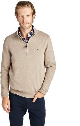 Vineyard Vines Palm Beach Cotton-Cashmere 1/4-Zip Sweater
