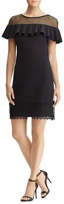 Lauren Ralph Lauren Ruffled Lace-Inset Dress -100% Exclusive