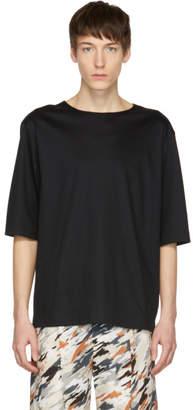 Lemaire Black Three-Quarter Sleeve T-Shirt