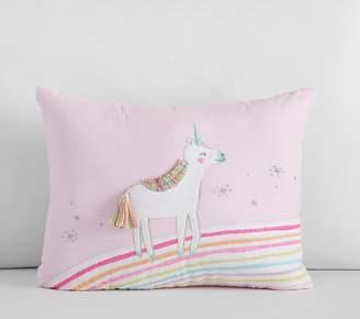 Pottery Barn Kids Molly Unicorn Pillow, 12x16, Lavender