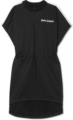Palm Angels Striped Satin-jersey Mini Dress - Black