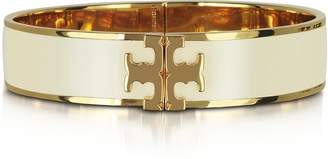 Tory Burch Raised Logo New Ivory Enamel Thin Cuff Bracelet