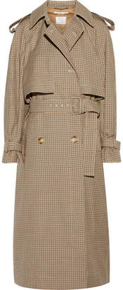 Stella McCartney - Checked Wool Trench Coat - Tan $2,185 thestylecure.com
