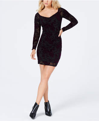 GUESS Amber Velvet Ruched Dress