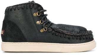 Mou lace-uo sneaker boots