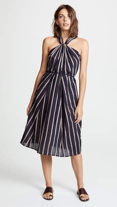Vince Twist Front Halter Dress