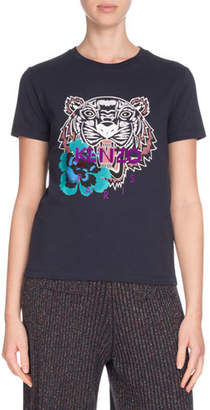 Kenzo Relaxed Tiger Logo Graphic Short-Sleeve Tee