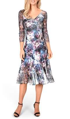 f2b56e90e362f Komarov Charmeuse Chiffon A-Line Dress