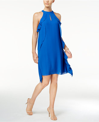 Nine West Ruffled Halter Shift Dress $79 thestylecure.com