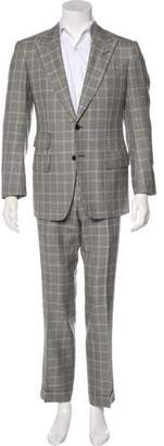 Tom Ford Wool & Silk Houndstooth Two-Piece Suit