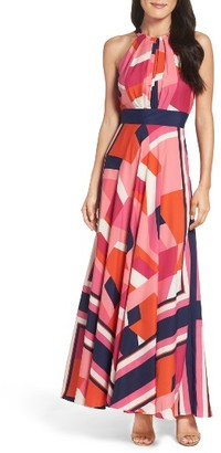 Women's Eliza J Halter Maxi Dress $158 thestylecure.com