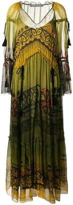 Alberta Ferretti (アルベルタ フェレッティ) - Alberta Ferretti ドローストリングウエスト ドレス