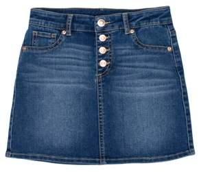 Wonder Nation Button Front Denim Skirt (Little Girls, Big Girls & Big Girls Plus)