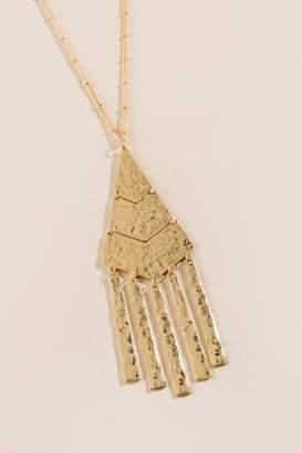 Ariel Hammered Metal Pendant Necklace - Gold