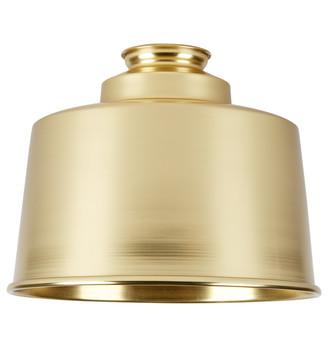 Rejuvenation 8in. Cylinder Shade - Aged Brass