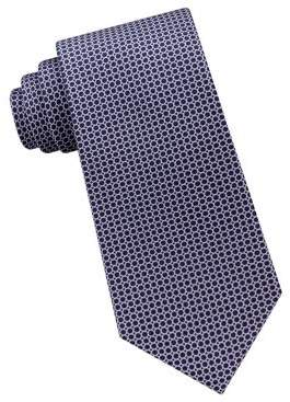 Michael Kors Linked-Circle Silk Tie