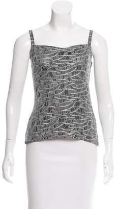 Chanel Sleeveless Metallic Top
