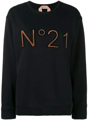 No.21 logo printed loose sweatshirt