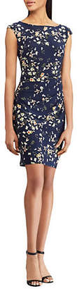 Chaps Floral Slim-Fit Day Dress