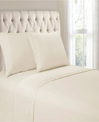 Hudson Cathay Home Inc. & Main Diamond Ruched Hem 4 Pieces King Sheet Set Bedding