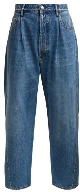 Wide Leg Jeans - Womens - Blue