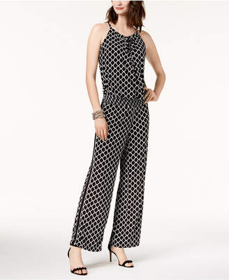 INC International Concepts I.n.c. Printed Peasant Jumpsuit, Created for Macy's