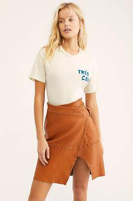 Belted Leather Skirt