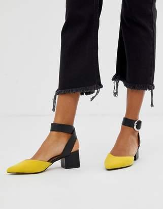 Blink pointed mid block heels